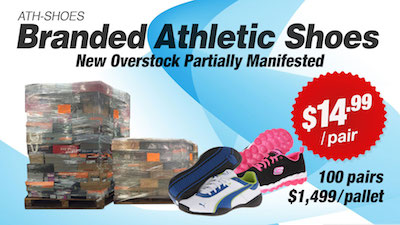- Assorted New Overstock Branded Athletic Shoe Lots