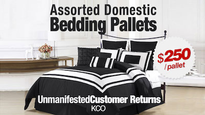- KCO Assorted Return Bedding Pallet