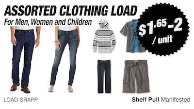 - Program   SRS Department Store Shelf-Pull Apparels Loads