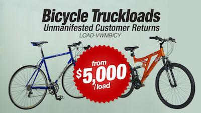 - Program   WM Department Store Return Bicycle Truckloads