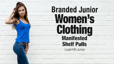 - Program   HE Department Store Shelf-Pull Junior's Clothing Lots