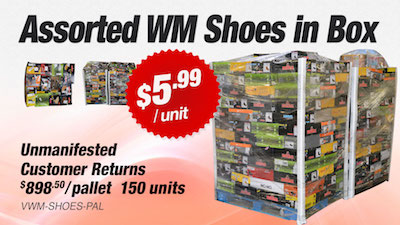 - WM Store Customer Return Assorted Paired In Box Shoes