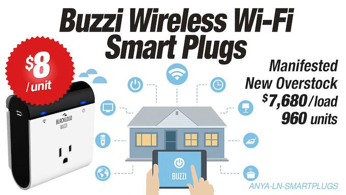 ANYA-LN-SMARTPLUG - LiquidateNow   BUZZI Wireless WI-FI Smart Plugs
