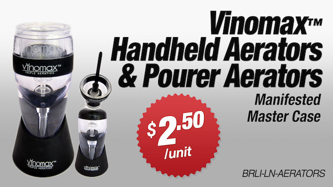 BRLI-LN-AERATORS - Vinomax™ Handheld and Pourer Wine Aerators