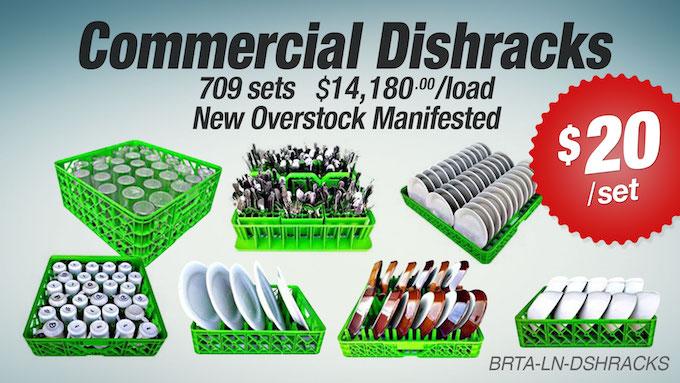 BRTA-LN-DISHRACKS -  Liquidation of Commercial Dishracks