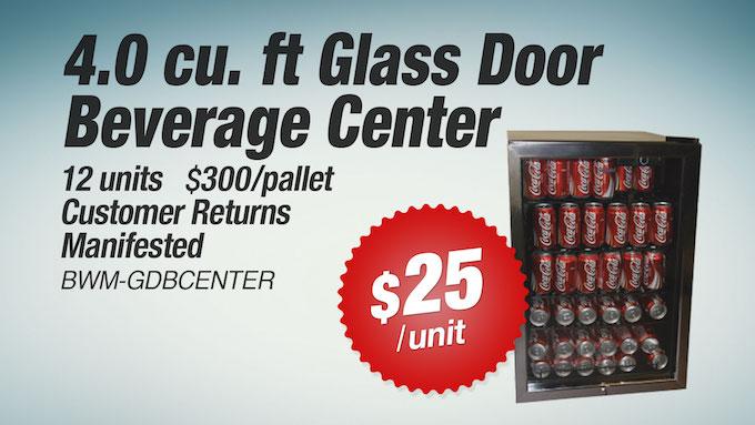 BWM-GDBCENTER - 4.0 cu. ft Glass Door Beverage Center