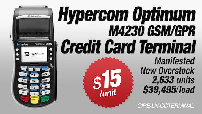 CIRE-LN-CCTERMINAL - Hypercom Optimum M4230 GSM/GPR Credit Card Terminal