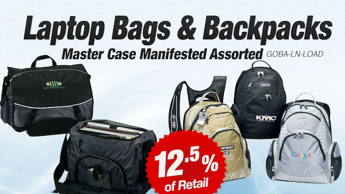 GOBA-LN-LOAD - Assorted Laptop Bags and Backpacks
