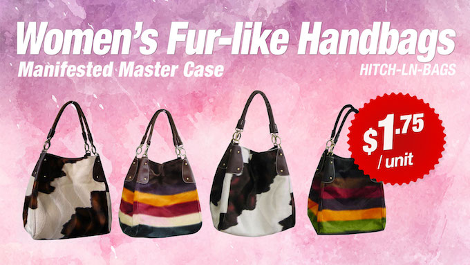 HITC-LN-BAGS - Women's Fur-like Handbags