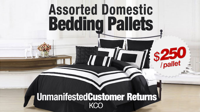 KCO - Assorted Domestic/Bedding Pallets