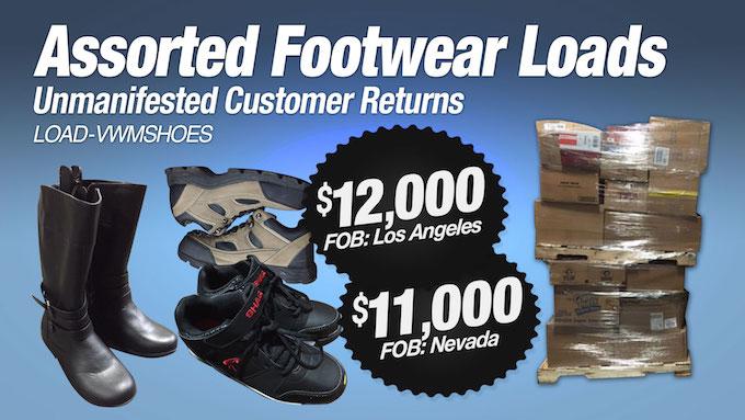 LOAD-VWMSHOES - Unmanifested Assorted Return AS-IS Footwear Load