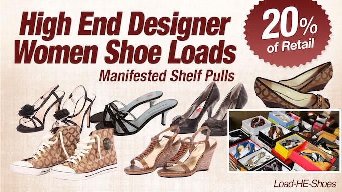 Load-HE-Shoes - Program   HE Department Store Shelf-Pull  Women's Branded Shoe Lots