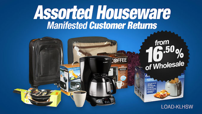 Load-KLHSW - Assorted Houseware Loads