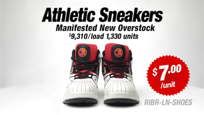 RIBR-LN-SHOES - Wholesale New Overstock Athletic Sneakers