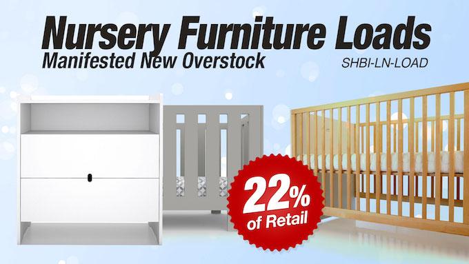 SHBI-LN-LOAD - Wholesale New Overstock Nursery Furniture Loads