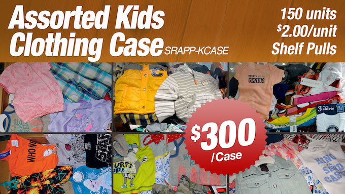SRAPP-KCASE - Assorted Kids Clothing Case