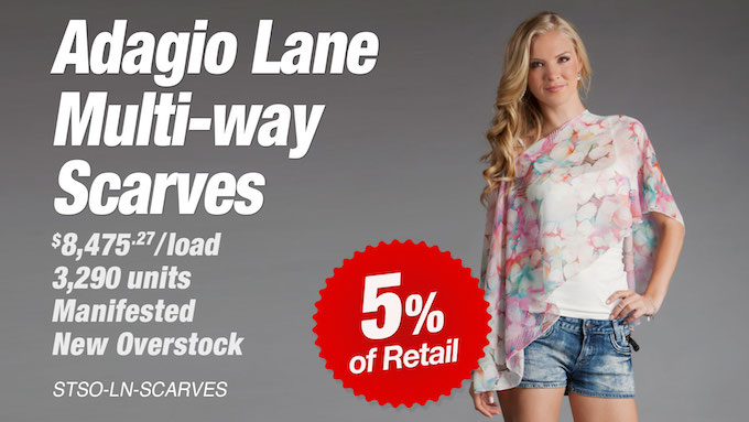 STSO-LN-SCARVES - Liquidation of Adagio Lane Multi-Way Scarves