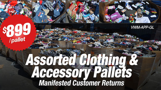 VWM-APP-GL - WM Assorted Clothing and Accessory Pallets