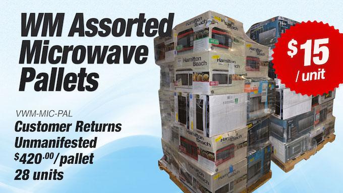 VWM-MIC-PAL - WM Assorted Microwave Pallets