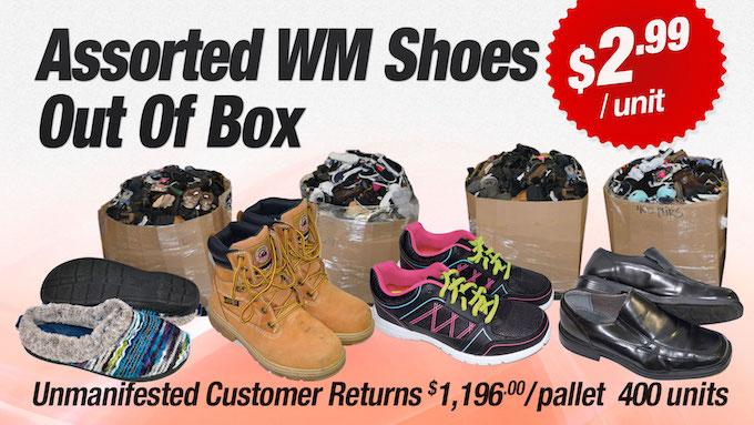 VWM-SHOES-BIN - Assorted WM Customer Return Out of Box Shoes