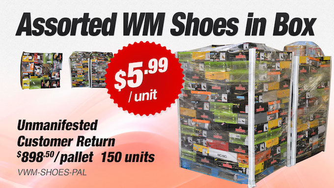 VWM-SHOES-PAL - WM Store Customer Return Assorted Paired In Box Shoes