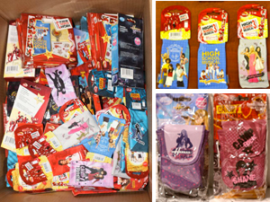 Wholesale Lot of 100 Licensed Disney Electronic Accessories - Hannah Montana, Camp Rock and High School Musical 3!