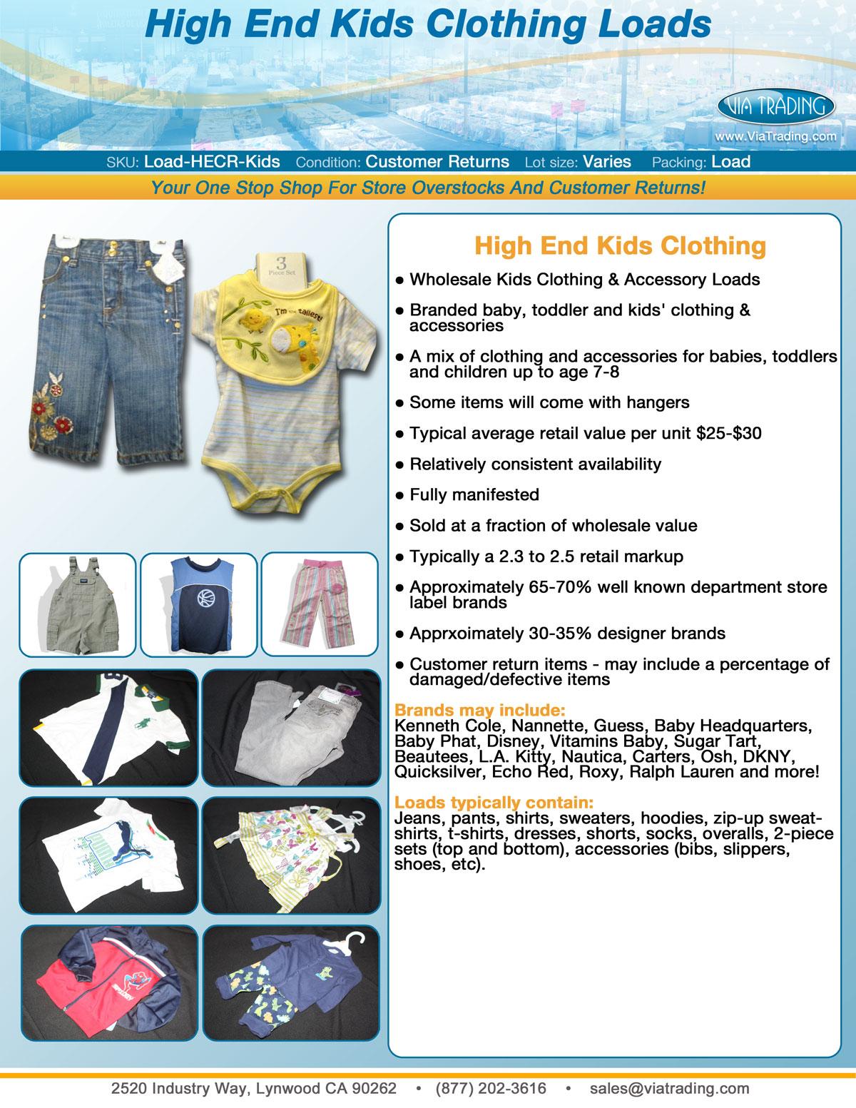 Wholesale High End Kids Clothing Wholesale Children S