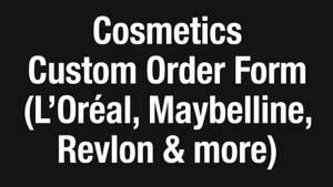 Cosmetics Order Form