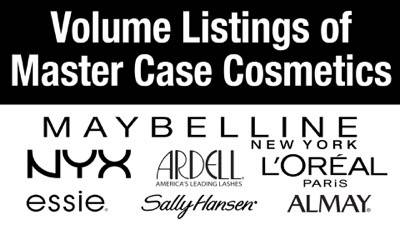 Master Case Cosmetics Volume Lots