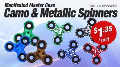LiquidateNow | Liquidation of Camo and Metallic Spinners