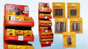 Liquidación de Cajas Maestras de Mostradores de Baterías Kodak