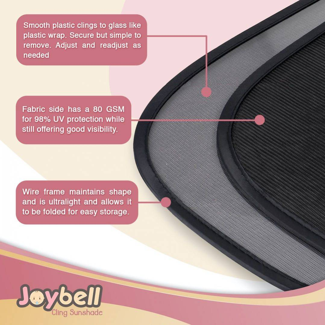 Via Trading | Joybell Side Window Cling-Shade 3 Pack Liquidation