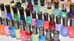 Assorted Sally Hansen Cosmetic Cases