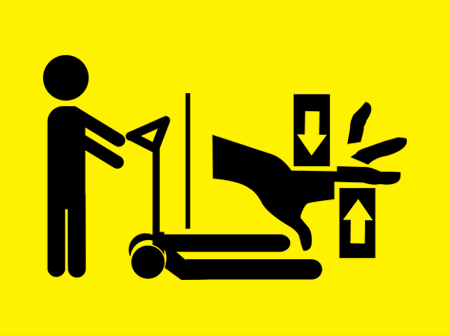 No touching Equipment