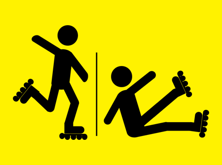 No rollerblading/ rollerblading